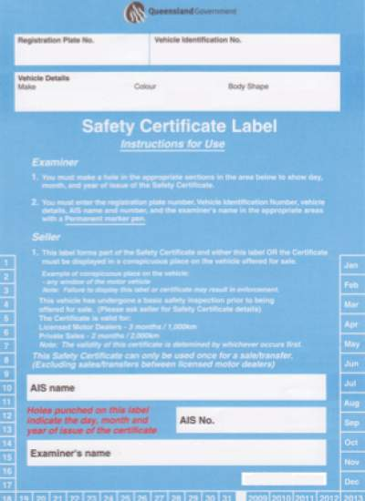Are you chasing a safety certificate or pre-purchase inspection? Book in with us today!